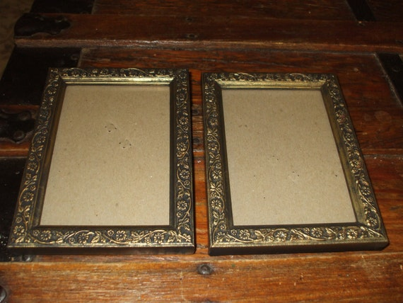 Wooden Frames,Two Ornate Embossed SALE