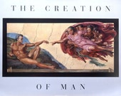 Creation Of Man, black African PRINT 22x28 by RUSTY RUST / M-404-P