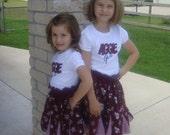 Texas A & M  Shirred Waist Twirl Skirt and Tee