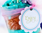 Candyland/ land of sweets birthday favor tags