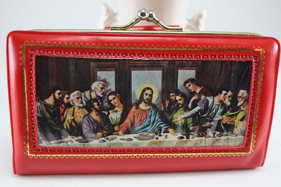 Vintage Plastic Jesus Last Supper Coin Purse