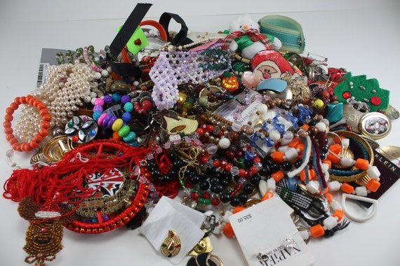 Destash Jewelry Over 3 Pounds Lot Crafting, Mixed Media, Assemblage, Art Supplies Lot 2