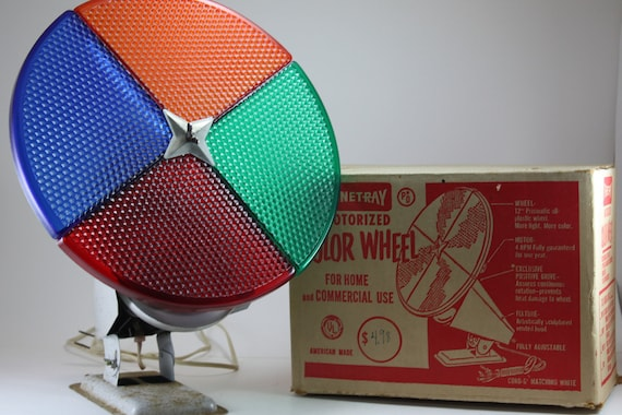 Vintage Mid Century Modern Aluminum Christmas Tree Color Wheel