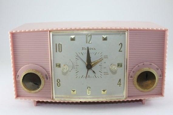 Vintage Pink Radio Bulova