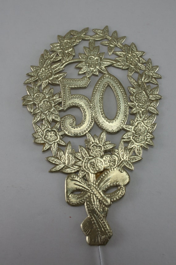 Vintage Foil Decorations 50th Wedding Anniversary By