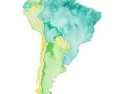 8.5x11 - South America Print