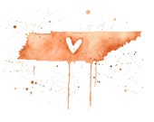 5x7 or 8.5x11 - Tennessee Love