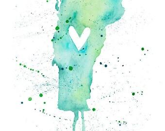 5x7 or 8.5x11 - Vermont Love