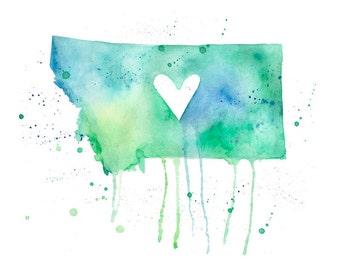 5x7 or 8.5x11 - Montana Love