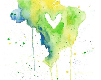 5x7 or 8.5x11 - Brazil Love