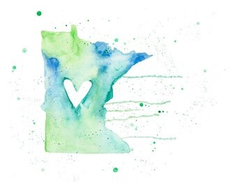 5x7 or 8.5x11 - Minnesota Love