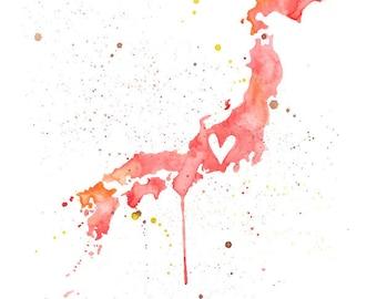 5x7 or 8.5x11 - Japan Love