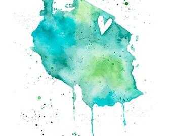 5x7 or 8.5x11 - Tanzania Love