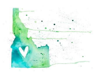 5x7 or 8.5x11 - Idaho Love