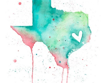 5x7 or 8.5x11 - Texas Love