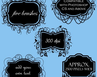 Frames Photoshop Brushes Elegant Frames Photoshop Brushes - Commercial and Personal