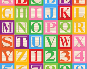 baby blocks alphabet font clip art clipart commercial and personal