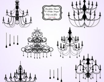 Chandelier Clip Art Clipart - Commercial and Personal