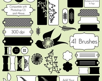 Digital Scrapbooking Photoshop Brushes - Commercial and Personal