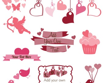 Valentines Day Photoshop Brushes, Love Photoshop Brushes, Wedding Photoshop Brushes - Commercial and Personal Use
