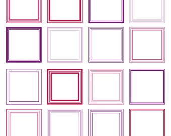 Square Line Frames Photoshop Brushes - Commercial and Personal Use