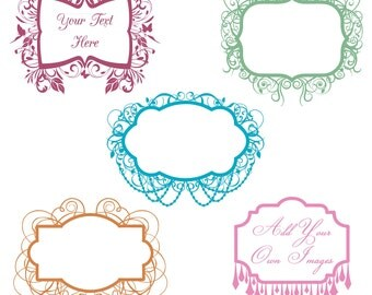 Frames Photoshop Brushes, Chandelier Flourish Frames Photoshop Brushes - Commercial and Personal Use