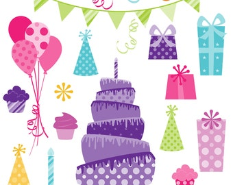 Party Photoshop Brushes, Birthday Celebration Photoshop Brushes - Commercial and Personal Use