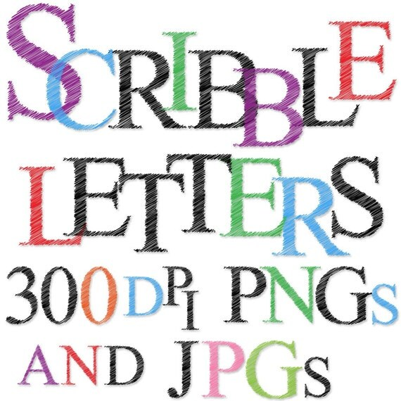 Scribble Alphabet, Scribble Font - Commercial and Personal
