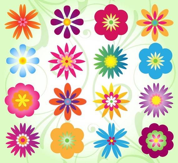 Flower Clip Art Clipart Mod Flower Clip Art Clipart