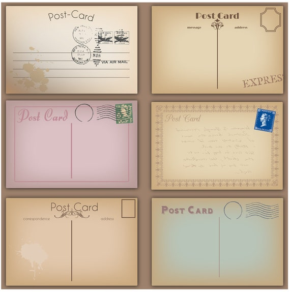 Vintage Postcards Clipart Clip Art Postcards Clipart Clip Art - Commercial use