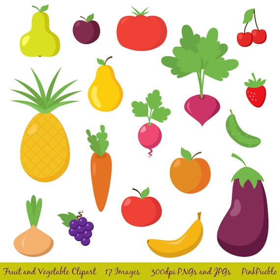 Fruit and Vegetable Clipart Clip Art Fruit Clipart by ...