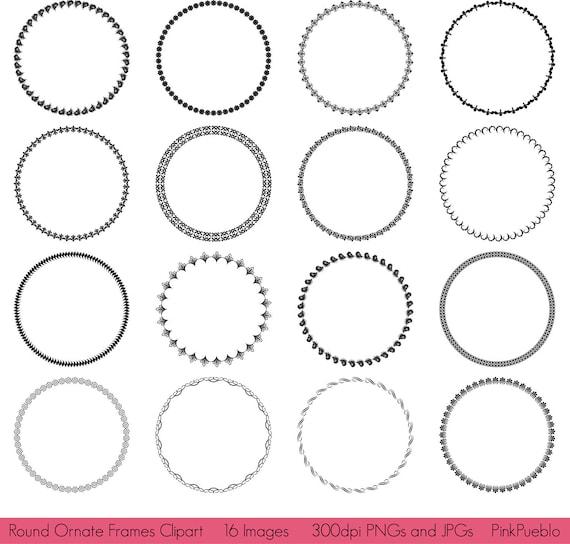 Circle Frame Clip Art Round Frames Clipart Clip Art