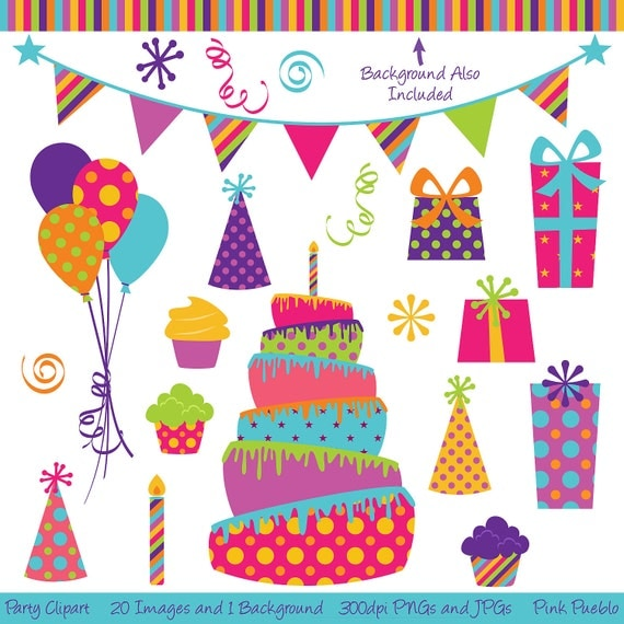 Birthday Clip Art And Free Birthday Graphics: Party Clipart Clip Art Birthday Cake Clipart Clip Art