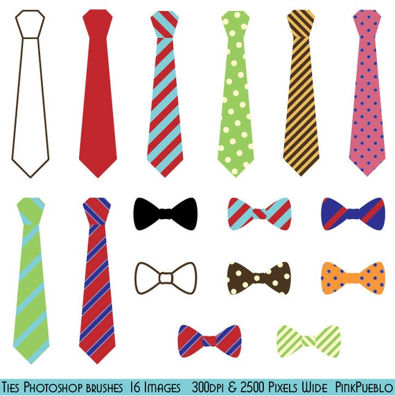 Tie Photoshop Brushes, Bow Tie Photoshop Brushes - Commercial and Personal Use
