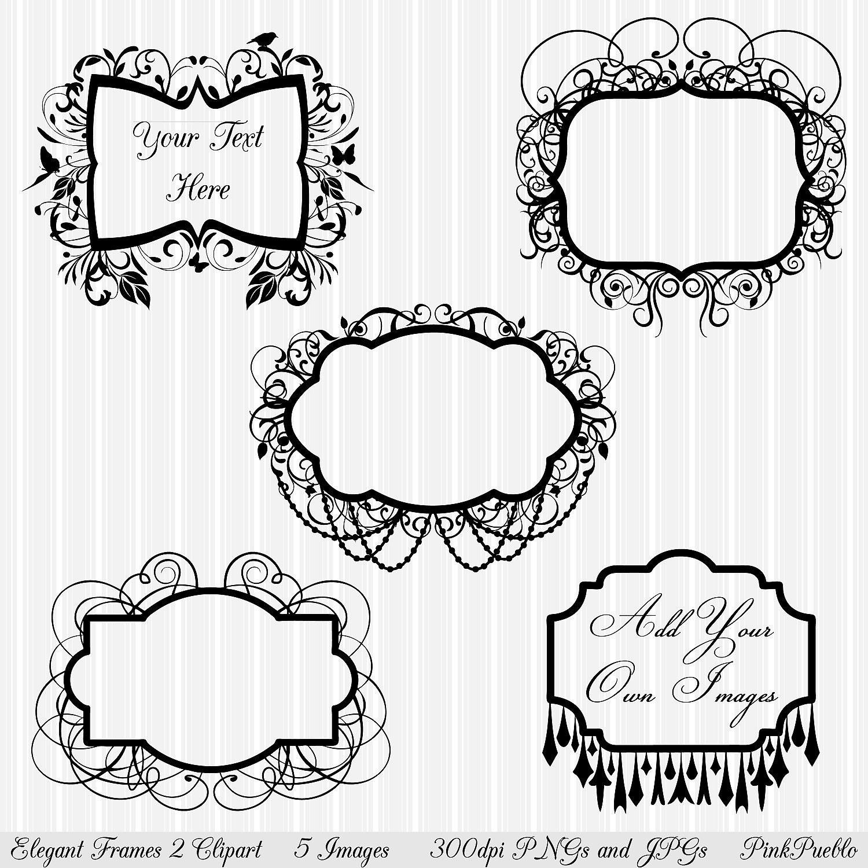 Black Frame Glasses Clipart : Frames Clipart Clip Art Flourish Chandelier Frames Clipart