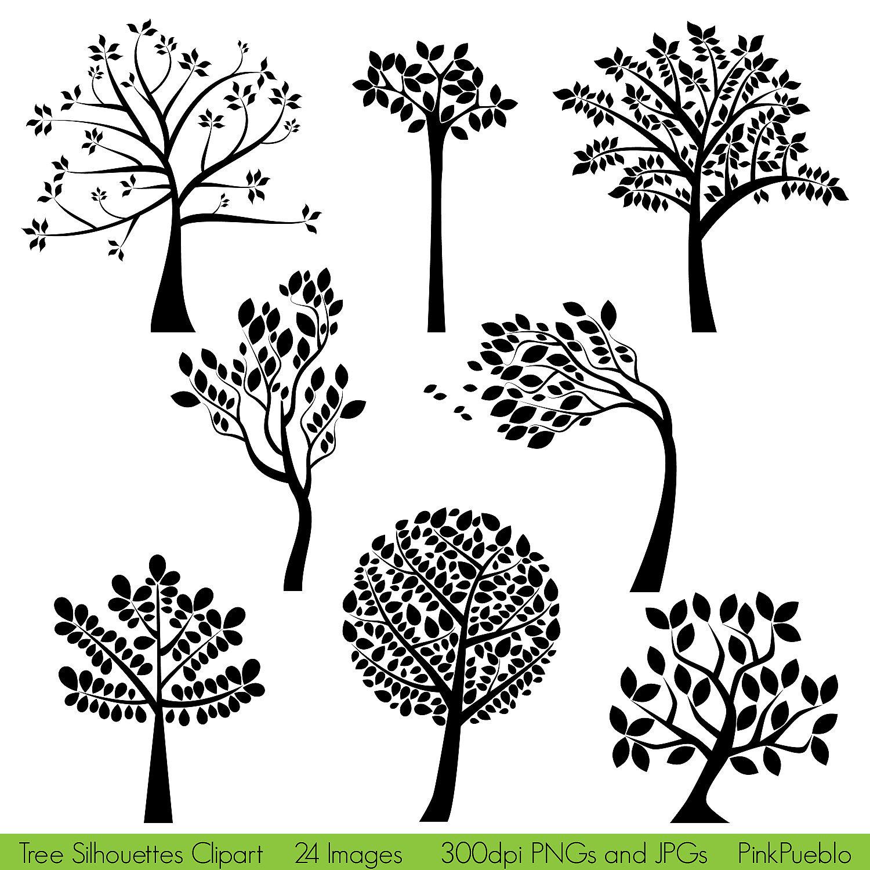 clip art tree silhouette - photo #2