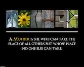 Mother ALPHABET PHOTO 8x10 Print