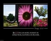 Joy ALPHABET PHOTO 5x7 Print