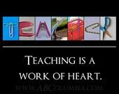 5x7 Teacher ALPHABET PHOTO print