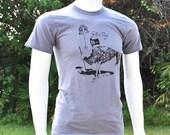 Ostrich, GutenTag, Original Graphic T, A Apparel Slate-FREE Domestic Shipping