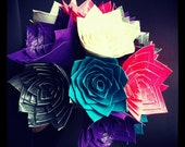 Mixed Color Bouquet of Duct Tape Roses