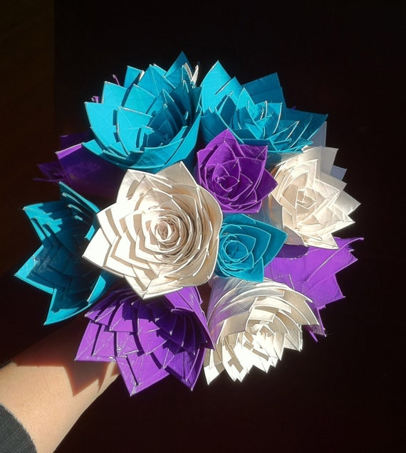 Items similar to mixed color bouquet of duct tape roses on etsy