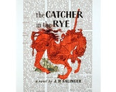 The Catcher in the Rye on a Vintage Dictionary Page