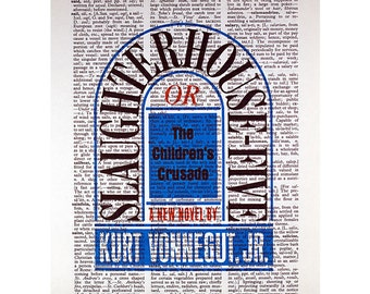Slaughterhouse Five on a Vintage Dictionary Page
