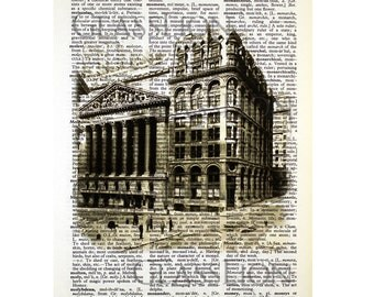New York Stock Exchange on a Vintage Dictionary Page