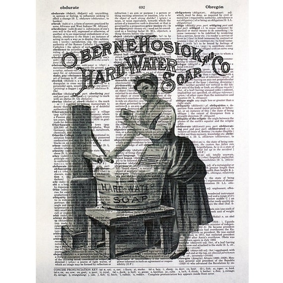 Laundry Soap Print on a Vintage Dictionary Page
