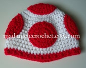 Newborn to Adult -Toad crochet beanie hat - Made to Order