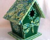 Festive Green Dragonfly Birdhouse