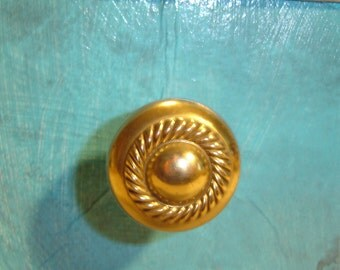 Brass Drawer Knobs,Solid from the 50's, 12 Knobs