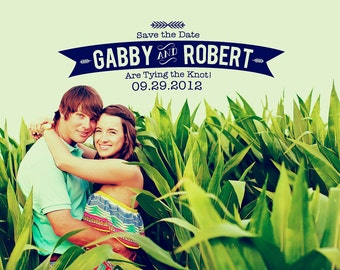 Curved Banner Save the Date Design